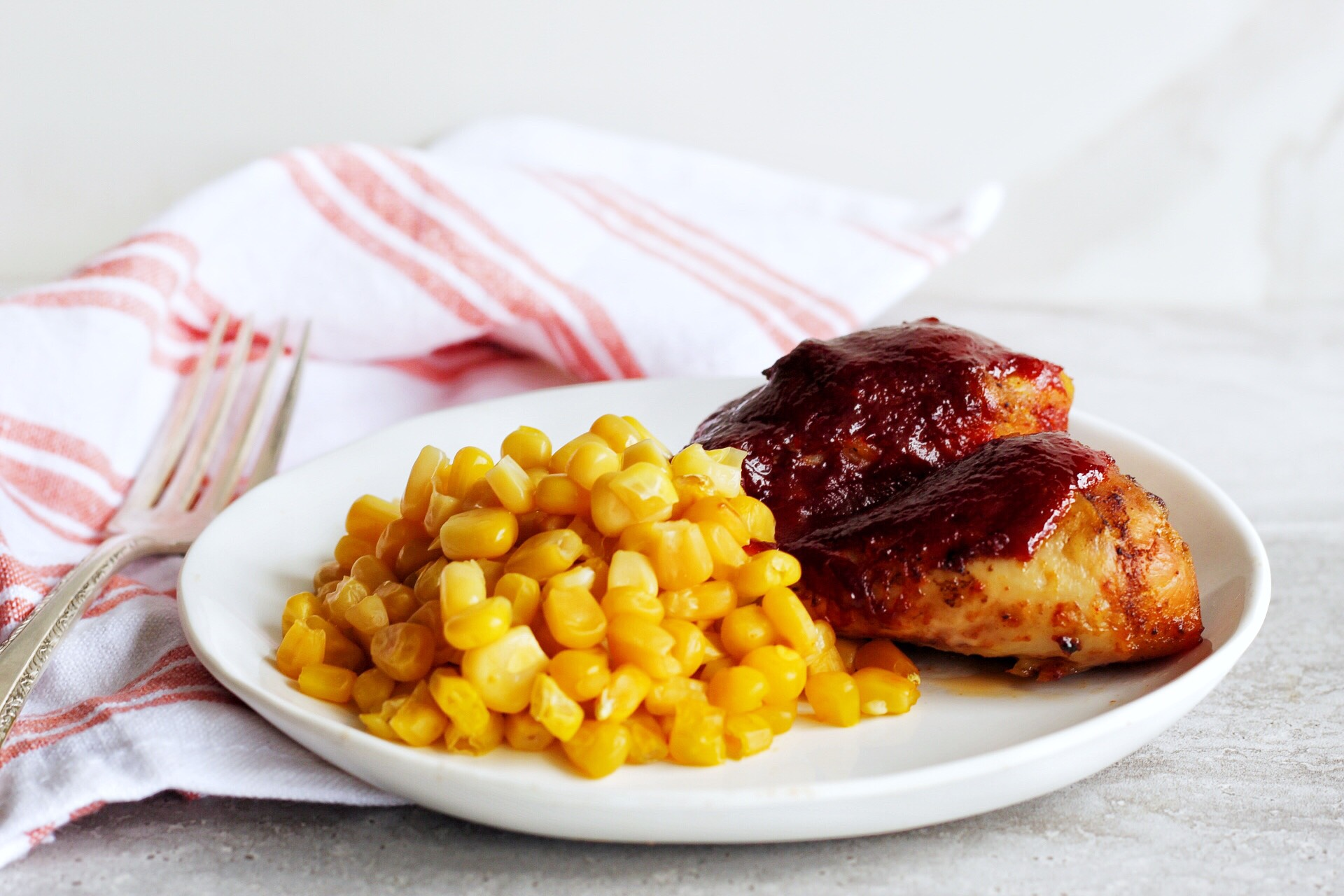 BBQ Chicken and Corn